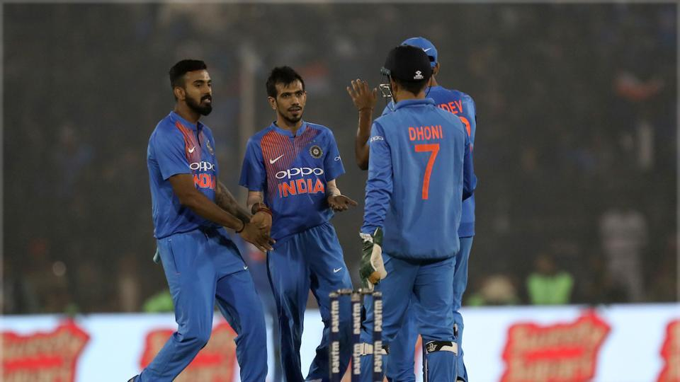 Coming in to bowl inside the powerplay, Chahal showed exemplary control with a slippery ball, owing to the dew on the ground, and got Upul Tharanga -- who looked set to score a big one.  (BCCI )