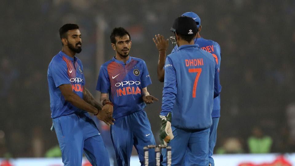 Yuzvendra Chahal celebrates the wicket of Upul Tharanga during the first T20 between India and Sri Lanka at the Barabati Stadium, Cuttack. Follow full cricket score of India vs Sri Lanka 1st T20 here