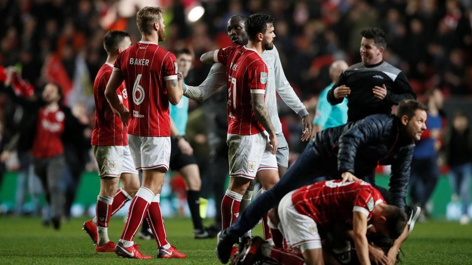 Bristol City stunned Manchester United 2-1 in their League Cup quarter-final on Wednesday.