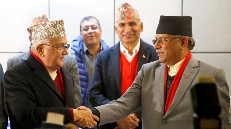 Communist Party of Nepal (Unified Marxist-Leninist) chairman KP Oli and the chairman of Communist Party of Nepal (Maoist Centre) Pushpa Kamal Dahal Prachanda spoke with Prime Minister Narendra Modi.