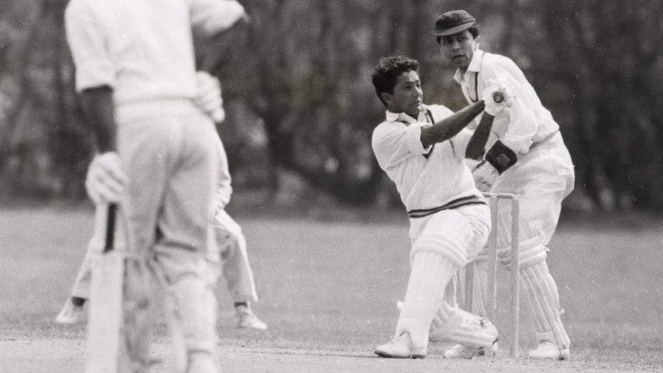 (Archive pic) Hanif Mohammad, Pakistan cricket team's opening bat in action during the first match of their tour of England, against the Indian Gymkhana Club at Osterley. Hanif scored 102 in the match.