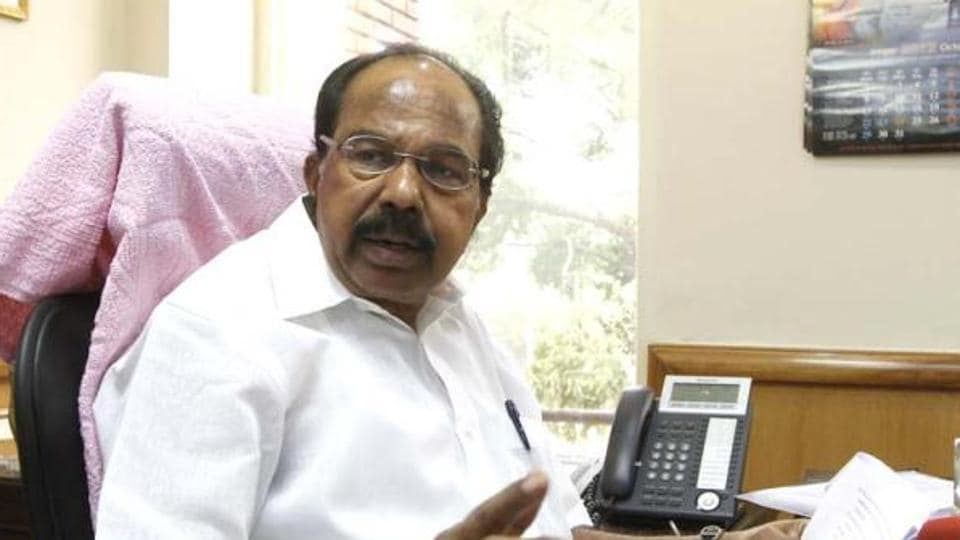 Senior Congress leader M Veerappa Moily.