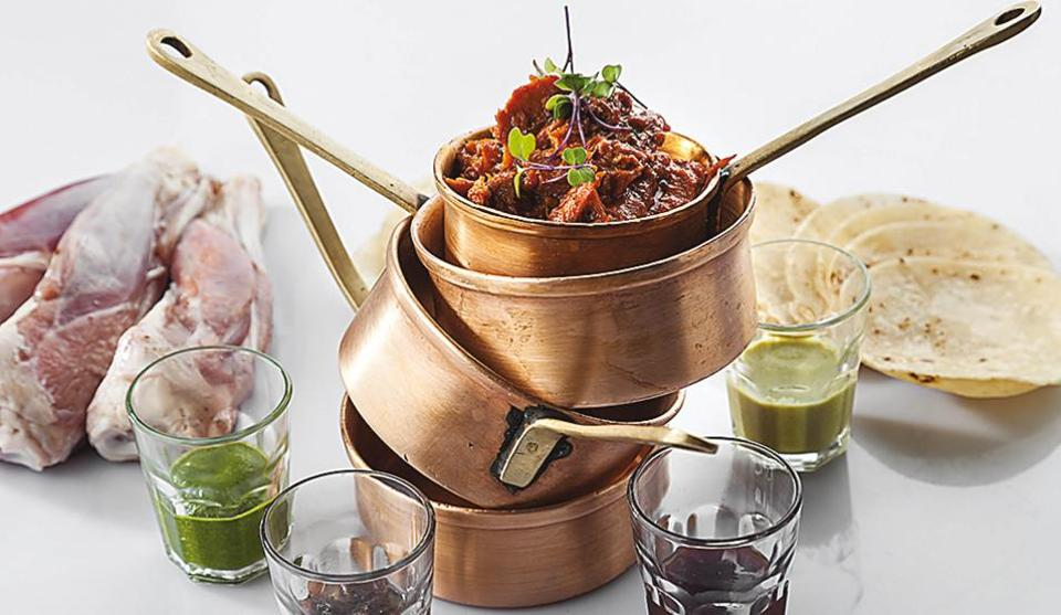 Ghee Roast Mutton Boti at the recently opened Indian Accent restaurant in London