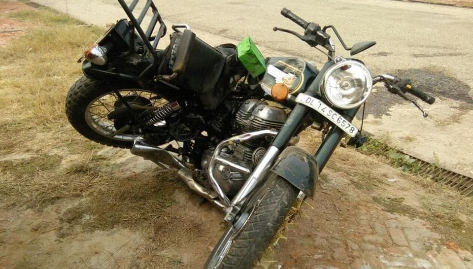 The motorcycle that the 22-year-old was riding on.