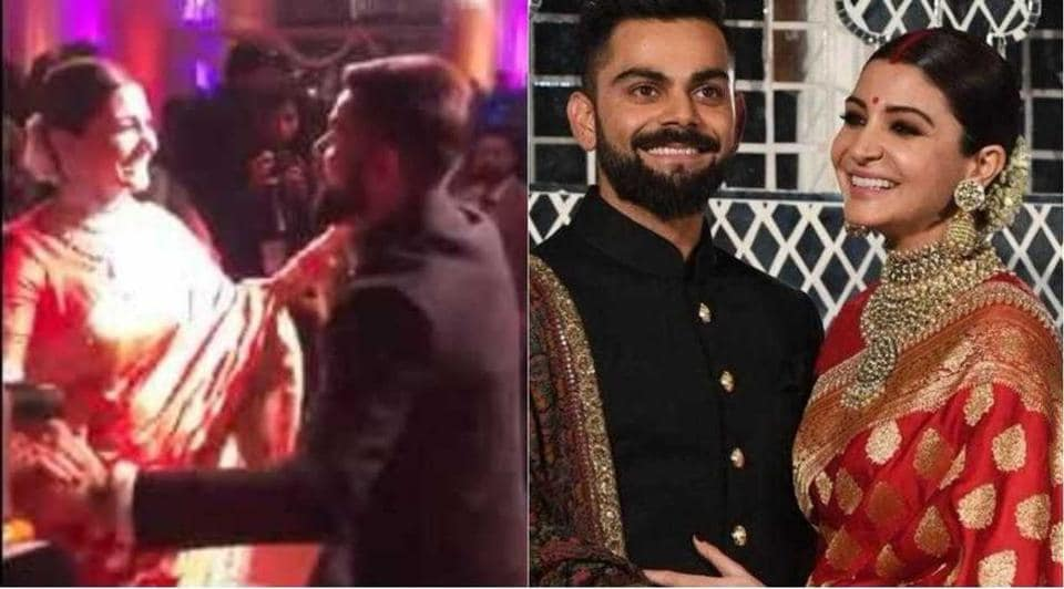 Anushka Sharma and Virat Kohli scorched the floor at their wedding reception in Delhi on Thursday.