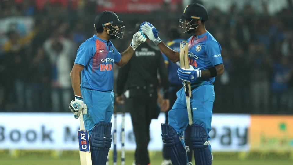 Rohit's century made him the third player since Brendon McCullum and Chris Gayle to smash two T20I centuries.  (BCCI)