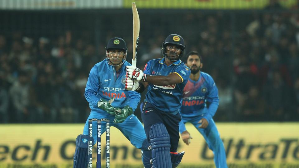Kusal Perera blasted 77 off 37 balls and at one point, Sri Lanka looked to be in touch with the required rate. (BCCI)