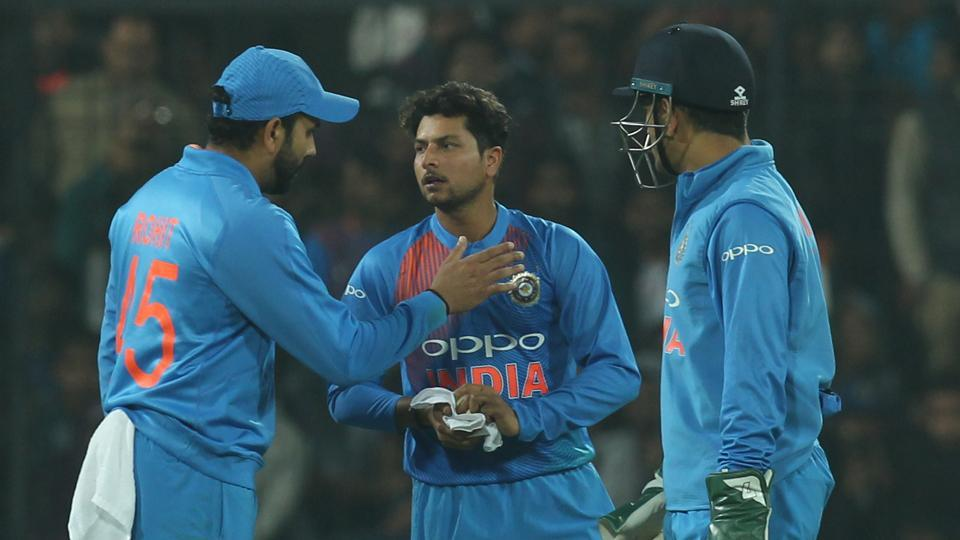 Kuldeep Yadav picked up three wickets as Sri Lanka stumbled dramatically.  (BCCI)