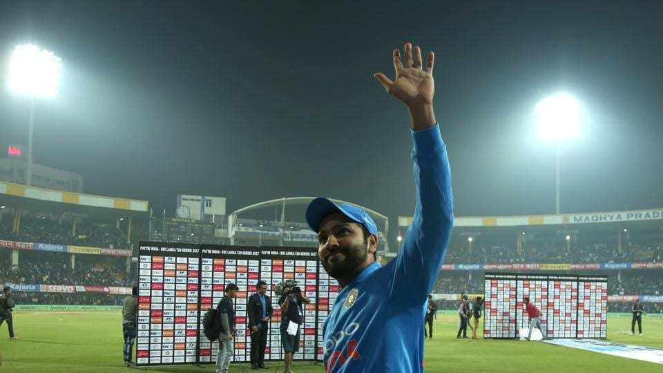 Rohit Sharma was named the Man of the Match for his magnificent 118. (BCCI)