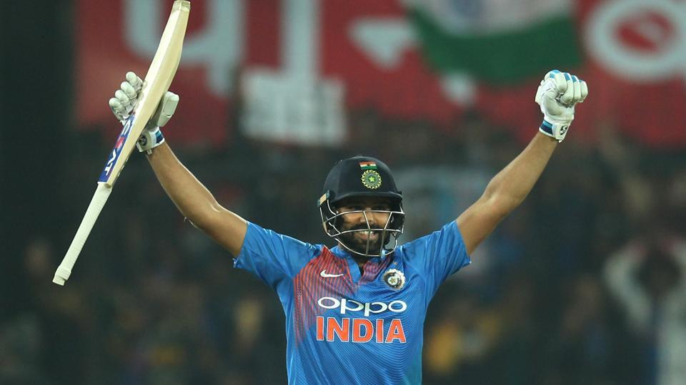 Rohit Sharma blasted the joint-fastest century in Twenty20 International cricket as India thrashed Sri Lanka by 88 runs at the Holkar stadium in Indore to take an unassailable 2-0 lead in the series. (BCCI)