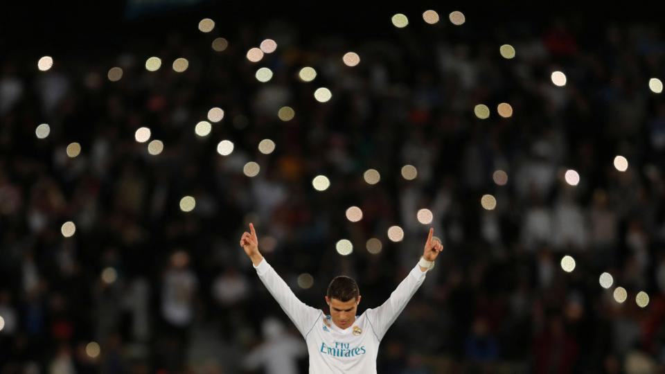 Real Madrid's Cristiano Ronaldo celebrates winning the FIFA Club World Cup after a 1-0 win against Gremio FBPA  at Zayed Sports City Stadium in Abu Dhabi, United Arab Emirates on December 16, 2017. (Amr Abdallah Dalsh / REUTERS)