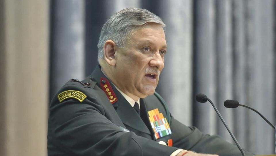 Image result for Will talk peace after Pakistan stops supporting terror: Army Chief