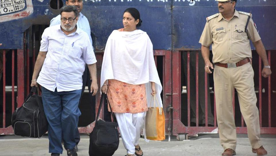 Rajesh Talwar and Nupur Talwar walked out of Dasna jail in Ghaziabad on Oct 16.