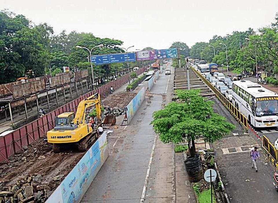 Metro work in the city is progressing at a steady pace.