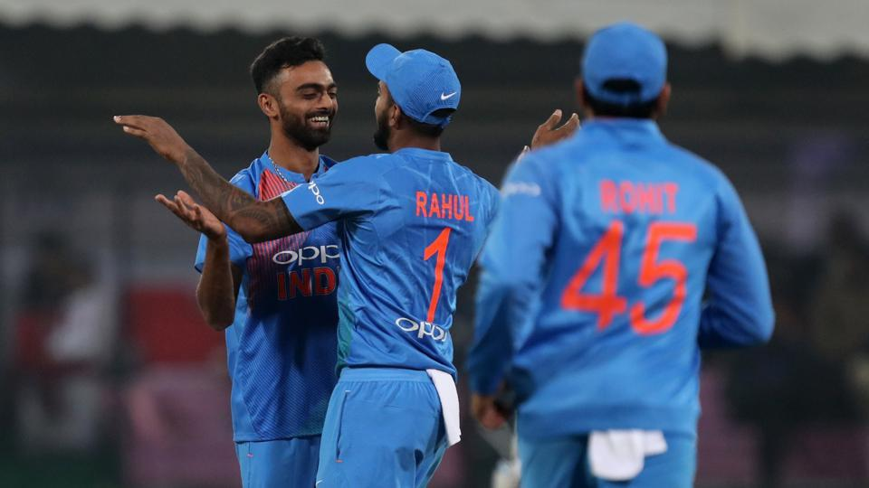 Jaydev Unadkat took the early wicket of Niroshan Dickwella as Sri Lanka got of to an aggressive start. (BCCI)