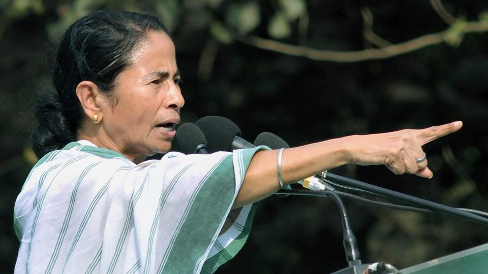 West Bengal CM and Trinamool Congress supremo Mamata Banerjee speaks during an event organised for peace and harmony in Kolkata.