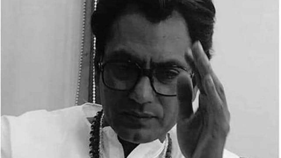 Actor Nawazuddin Siddiqui in the role of Bal Thackeray in the biopic, Thackeray.