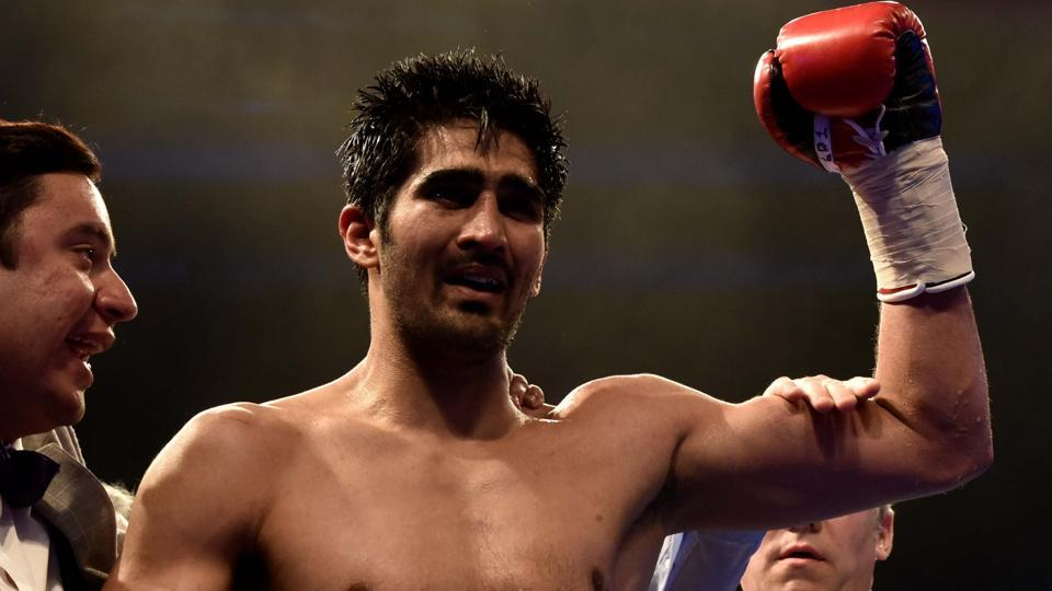 Indian boxer Vijender Singh will be up against Ernest Amuzu of Ghana on Saturday.