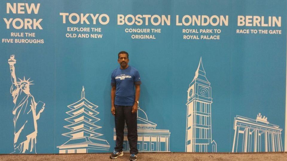 58-year-old Ashok Kumar is an Indian-origin long-distance runner based in London.