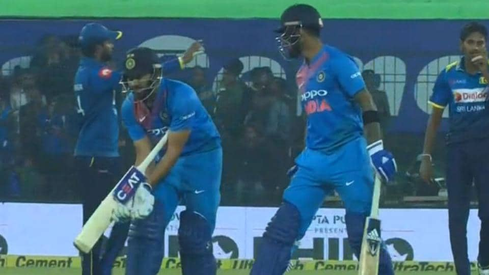 Rohit Sharma (L) asked the Indian dressing room to send MSDhoni to bat at No. 3 during the second T20 against Sri Lanka in Indore onFriday.