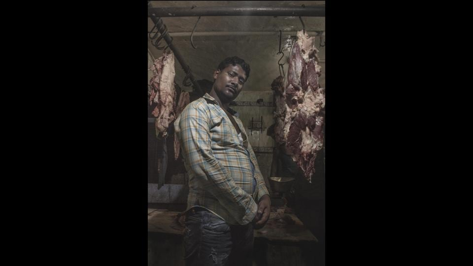 'Traditional Butchers' is a series of portraits of people involved in the traditional style of meat cutting. Butchery is one of the world's oldest and most respected professions, yet  butchers are subjected to social exclusion.  (Affaan Ahmed)