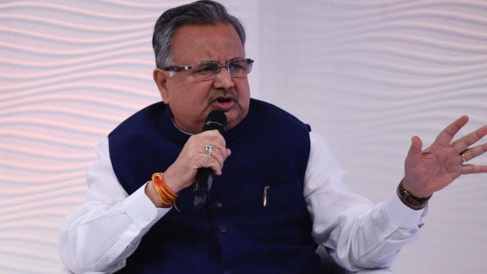 Chhattisgarh CM Raman Singh at the Hindustan Times Leadership Summit at Hyatt Regency in New Delhi, on December 01, 2017.