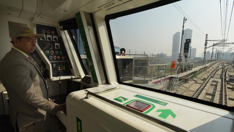 Photos Delhi Metro S Magenta Line At First Glance India