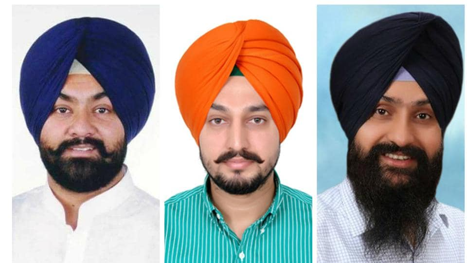 (Left to right) Gurpreet Singh Raju Khanna, Parminder Singh Brar and Sarabjot Singh Sabi.