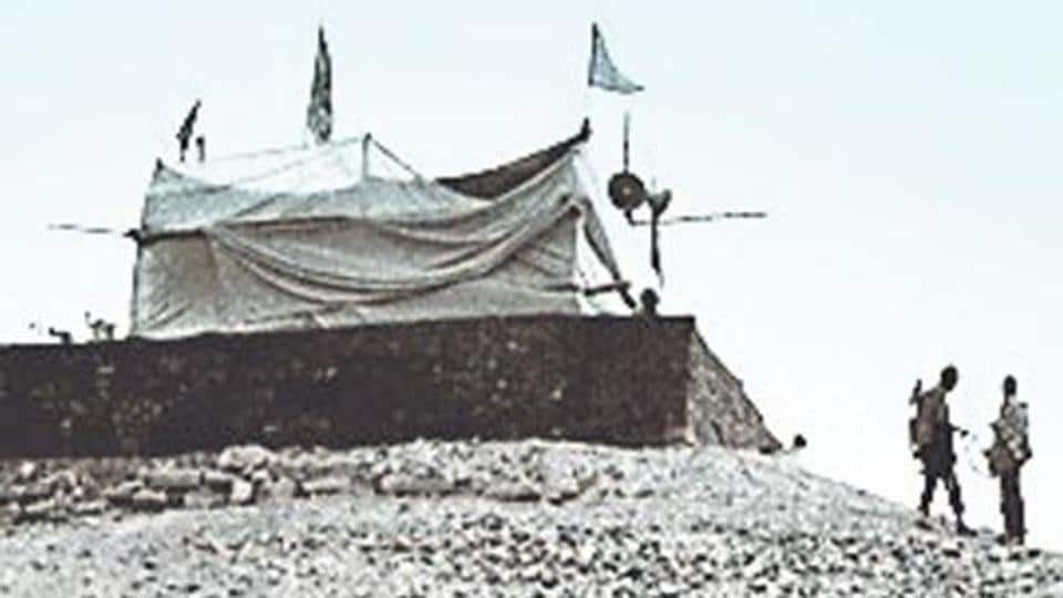 A file photo of makeshift Ram temple in Ayodhya.