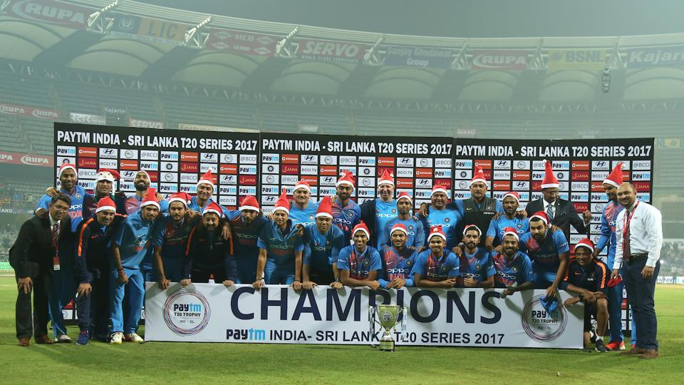 India beat Sri Lanka by 5 wickets to sweep the series 3-0 at the Wankhede Stadium in Mumbai on Sunday night. (BCCI)