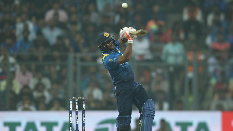 Asela Gunaratne was the top-scorer for Sri Lanka with 36 as Indian bowlers restricted the visitors to 135/7. (BCCI)