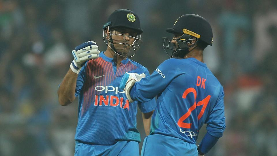 MSDhoni and Dinesh Karthik guided India to victory in the third T20 against SriLanka at the Wankhede Stadium, Mumbai, tonight. Follow highlights of India vs Sri Lanka, 3rd T20 here.