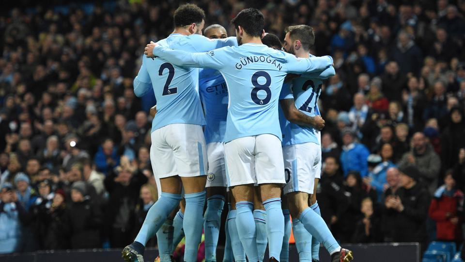 Manchester City are on top of the Premier League standings currently.