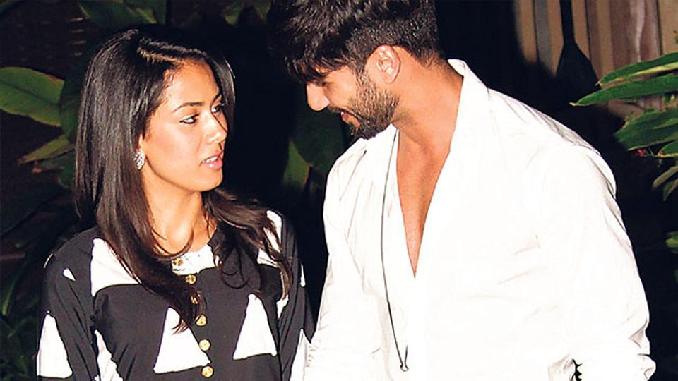 Shahid Kapoor and Mira Rajput in a file photo.