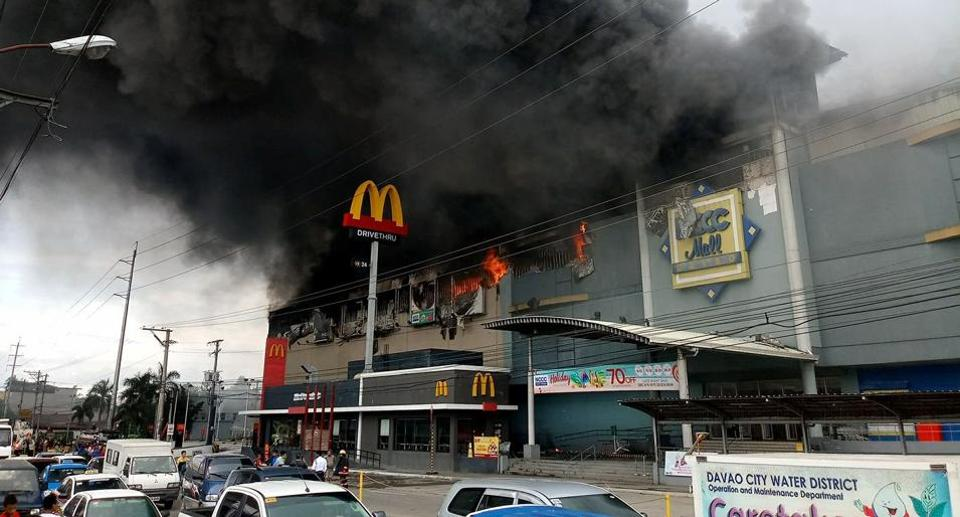 Philippines,Philippines mall,Fire