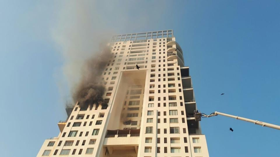 A fire broke out in a Mumbai high-rise on Monday evening.