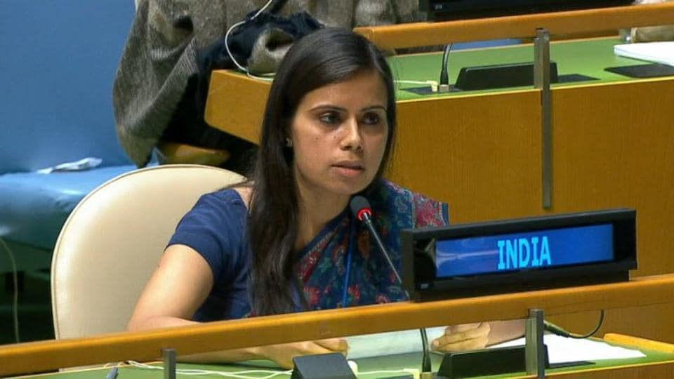 File photo of Eenam Gambhir, the first secretary of India's Permanent Mission to the United Nations.