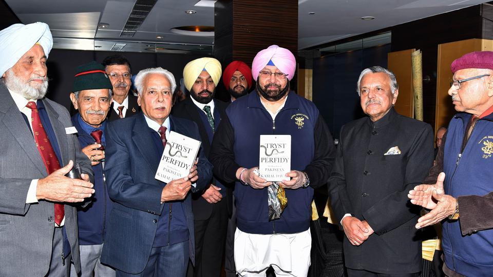 "On the occasion, Captain Amarinder released a book ""Tryst with Perfidy"", written by Lt Gen Kamal Davar, former chief of Defence Intelligence Agency."