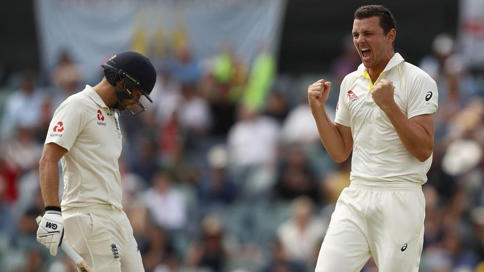 Josh Hazlewood had run through England's batting line-up in the second innings of the third Test to hand Australia an unassailable 3-0 lead in the Ashes.