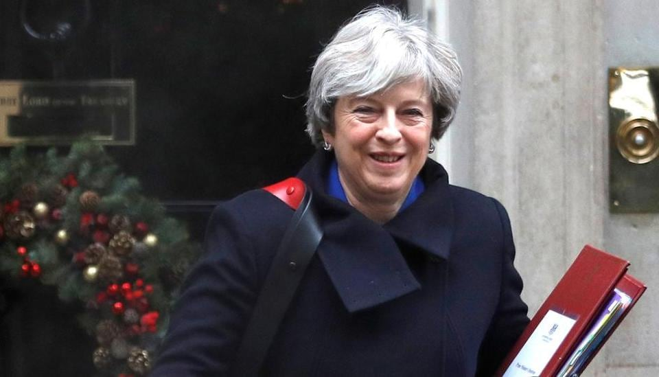 Britain's Prime Minister Theresa May leaves 10 Downing Street in London, December 20
