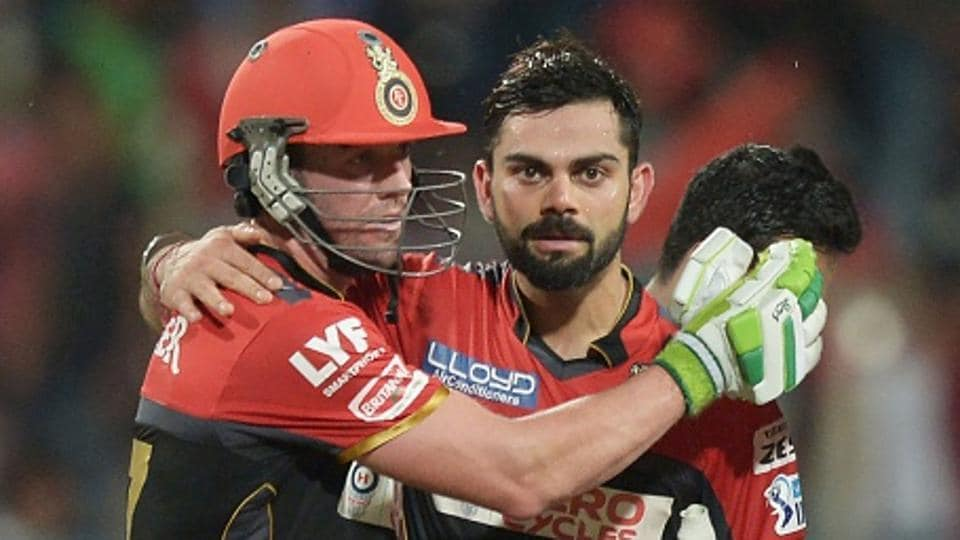 Virat Kohli (R) and AB de Villiers have been teammates at Royal Challengers Bangalore in the Indian Premier League.