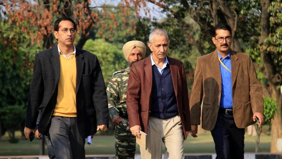Dineshwar Sharma during his visit in Jammu.