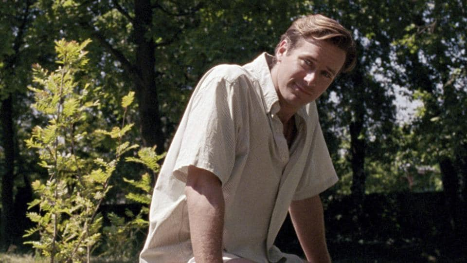 This image released by Sony Pictures Classics shows Armie Hammer in a scene from Call Me By Your Name.