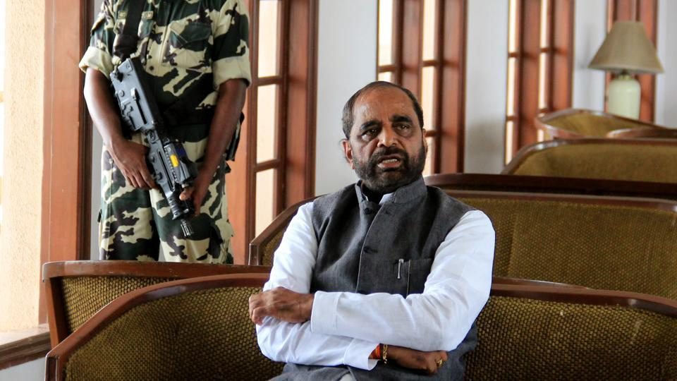Hansraj Ahir wondered if it was appropriate for doctors to go on leave when a 'democratically-elected' minister was on a visit.