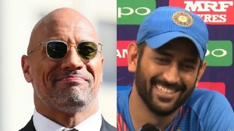 During a fun interaction, wrestler-turned-actor Dwayne Johnson was shown MS Dhoni's helicopter shot and asked what it's called. The eight-time WWE champion answered correctly.