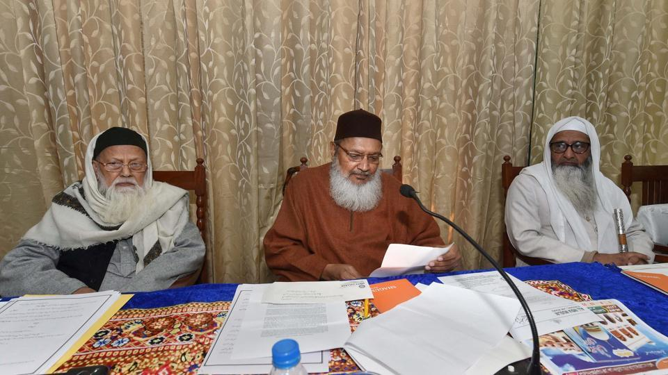 AIMPLB officials during a meeting issue 'triple Talaq' in Lucknow.