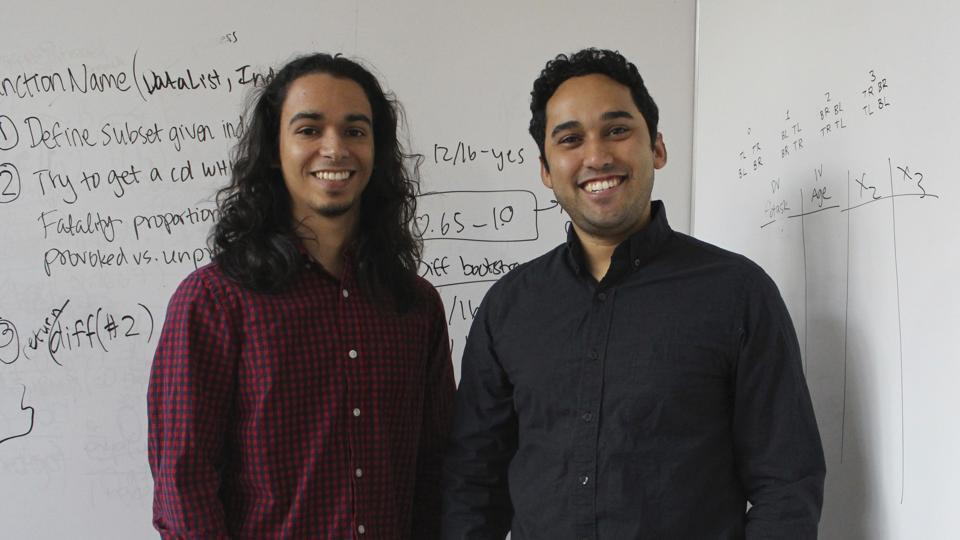 Michael Lopez-Brau and Stefan Uddenberg helped create an internet browser extension,