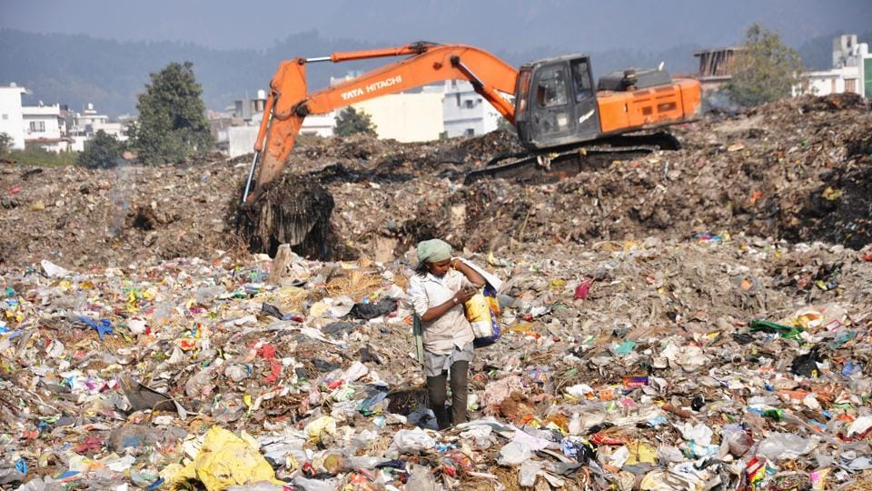 Over 10 lakh tonnes of waste has been collected at the trenching ground on Sahastradhara Road in Dehradun.