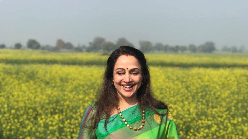 Hema Malini,Hema Malini mustard fields,Hema Malini Mathura