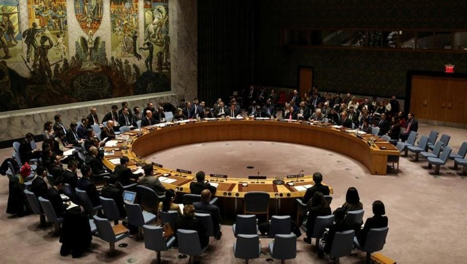 The United Nations Security Council meets to discuss imposing new sanctions on North Korea, in New York.